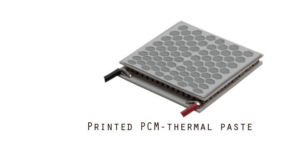 PCM-printed paste