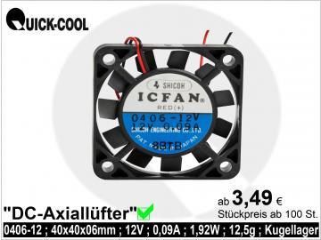 DC axial fan-0406-12