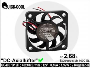 DC axial fan-QC4007B12H