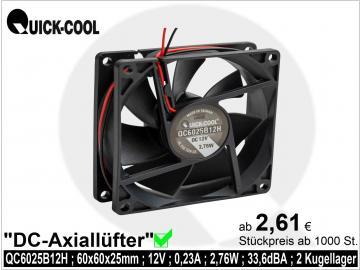 DC axial fan-QC6025B12H