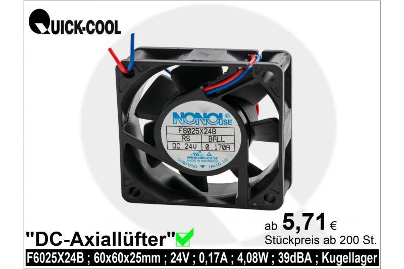 DC axial fan-F6025X24B