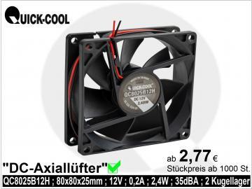 DC axial fan-QC8025B12H