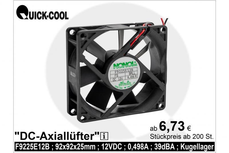 DC axial fan-F9225E12B