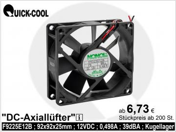 DC axial fan-F9225E12B