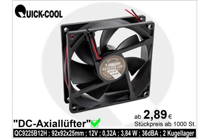 DC axial fan-QC9225B12H