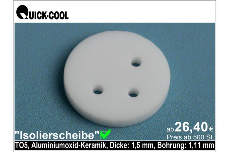 AL2O3-Isolierscheibe-TO5-1,5mm