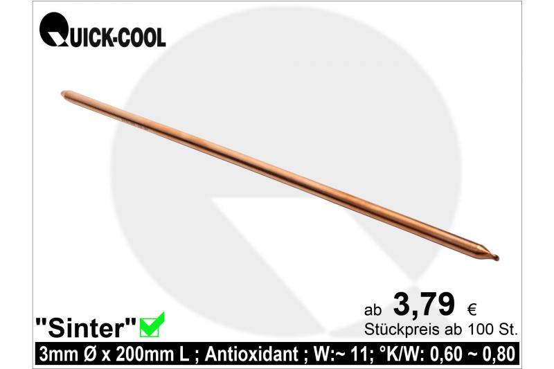 Sinter-Heatpipe 3x200mm