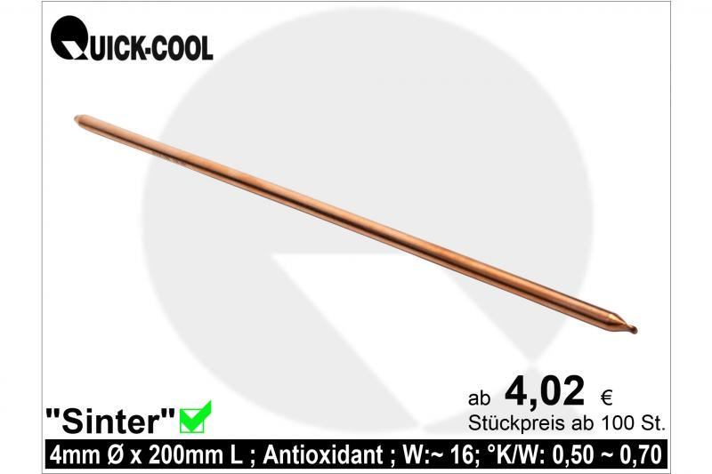 Sinter Heat-Pipe 4x200mm