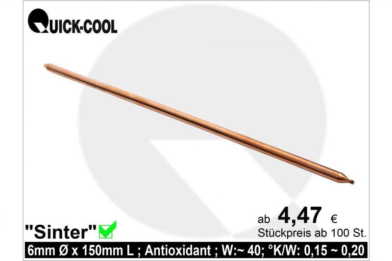 Sinter Heat-pipes 6x150mm